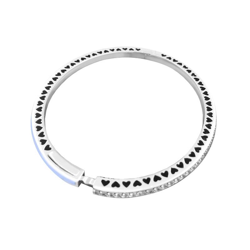 Convient aux Bracelets de Style européen 100% bijoux en argent Sterling 925 coeurs radiants, breloques originales en émail bleu Air