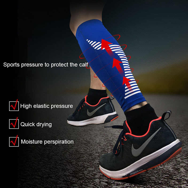 バスケットボールランニング脚スリーブスポーツフィットネスレギンス圧縮レッグウォーマーサイクリングすねガードふくらはぎサポートジム UV 保護