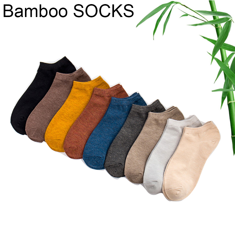 Summer High Quality Cool Men's Bamboo Fiber   Socks   Thin Short   Socks   Harajuku Solid Color Men Women   socks   10 pairs/lot Size US 7-9