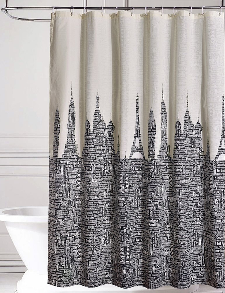 Shower Curtains Words PromotionShop For Promotional Shower - Shower curtain with words