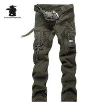 Новые мужские военные брюки Топ мульти-карман комбинезоны устойчивый к царапинам размера плюс хлопок повседневные брюки карго мужские армейские брюки B5F4