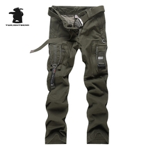 New Men's Military Pants Top Multi-Pocket Overalls Scratch Resistant Plus Size C