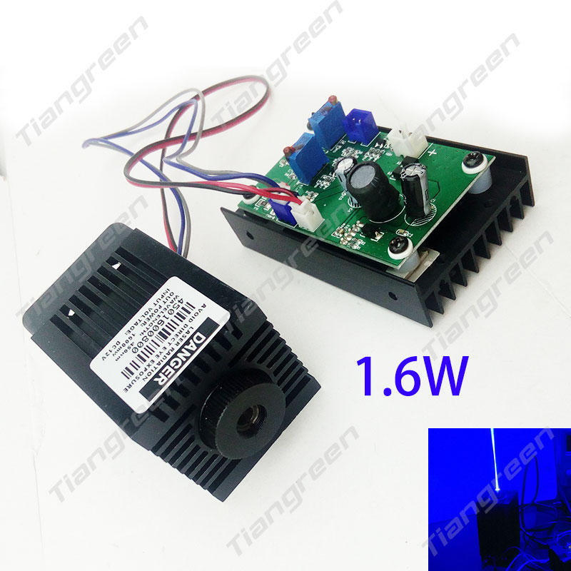 High Power Laser Diode 445nm 450nm 1.6W Blue Laser Module 1600mW Laser Cutter Engraving Machine