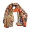 2016 Venta Caliente Primavera Verano Otoño Estilo 150*63 cm de La Bufanda de la Mujer de Moda Bufandas Chal de Gasa Aand Bufandas foulard femme YLYL