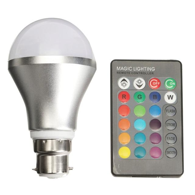 Aliexpresscom Buy W LED Light Bulb B Bayonet Adjustable RGB - What color light bulb for bedroom
