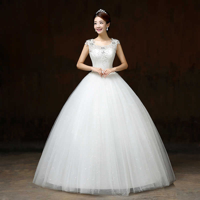 ... LYG-H63 Manufacturers selling new Korean Halter Bride s wedding dress  Lace Up plus size 671a8037ee3f