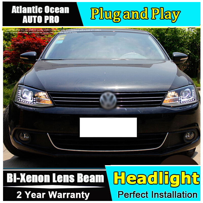 Auto Lighting Style Head Lamp for VW Jetta MK6 led headlights 2011-2014 Jetta headlight led drl HID KIT Bi-Xenon Lens low beam auto part style led head lamp for benz w163 ml320 ml280 ml350 ml430 2002 2005 led headlights drl hid bi xenon lens low beam