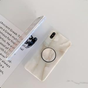 Image 3 - Con Piega Titolare Lucido Marmo Cassa Del Telefono Per il iPhone 7 6 6S 8 Più di 12 Mini 11 Pro Copertura X XS MAX XR 8 Più se 2 Casi Coque Shell