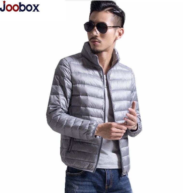 New 2017 Fashion Mens White Duck Down Jacket Lightweight Parka Men Winter ultra light Down Jackets ultralight Casaco Masculino