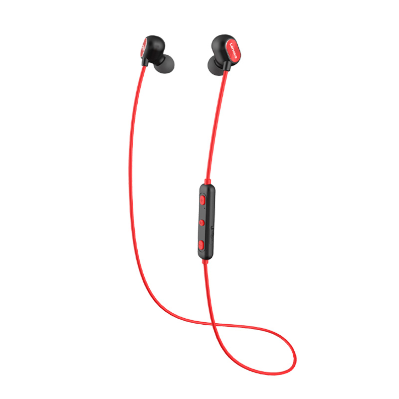 Lenovo Bluetooth Earphone Hands-Free Attraction Waterproof Sport with Build-In Mic Magnetic
