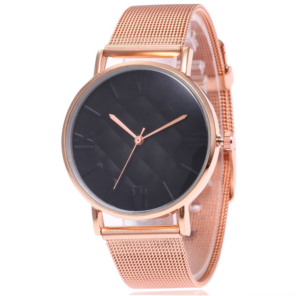 2020 New Fashion Unisex Women Ladies Rose Gold Stainless Steel Mesh Band Gold Wrist Watches Men Couple Watch Relogio Masculino
