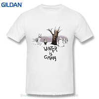 GILDAN Harajuku Funny Rick Tee Shirts Aich Men S Game Of Throne Calvin And Hobbes Winter