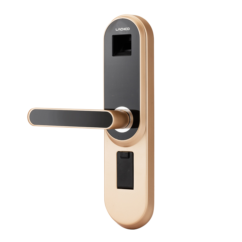 LACHCO биометрический электронный дверной замок умный отпечаток пальца, код, ключ сенсорный экран цифровой пароль дверной замок без ключа вхо...