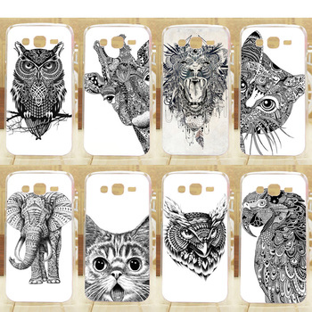 Hot Pattern Hard Case For Samsung G350E Mobile Phone Cases DIY White And Black Animals Plastic Back Protective Cover image