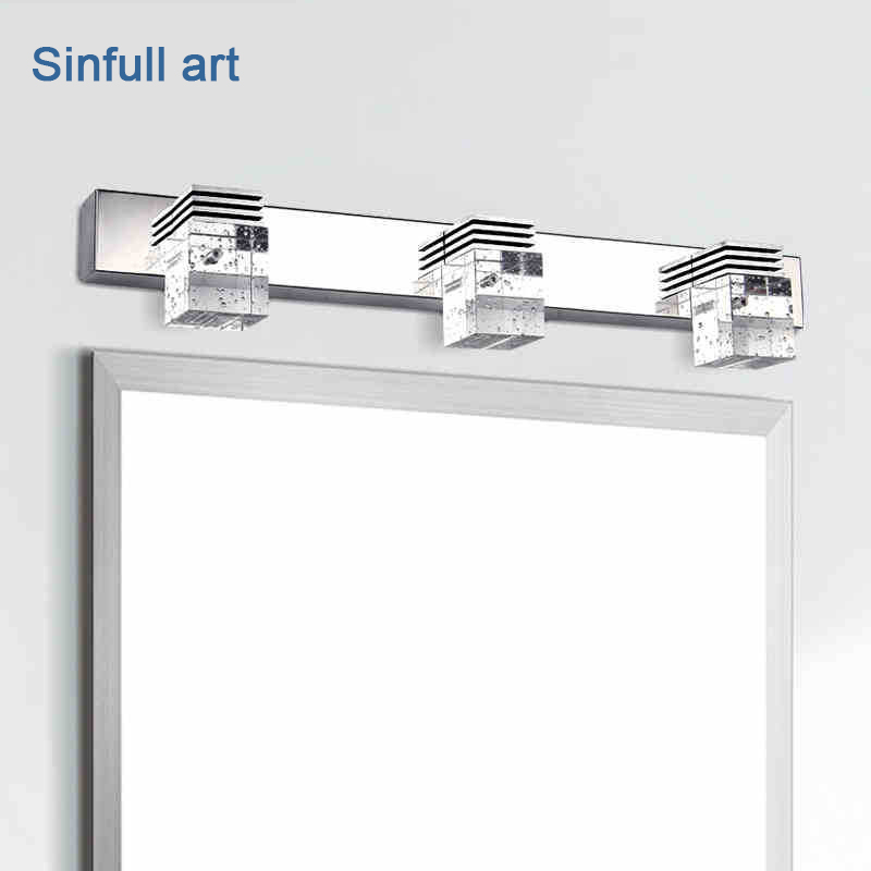 Crystal Torch Bedroom Wall Lamp Bathroom Mirror Front Wall: Modern Crystal Led Bathroom Light High Power Stainless