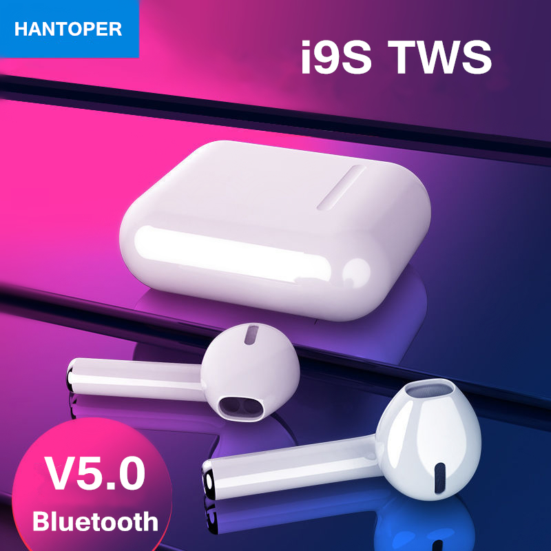 i9S TWS Wireless Bluetooth 5.0 Earphones Binaural Calling Headphone With Charging Box Stereo Headset for all phone