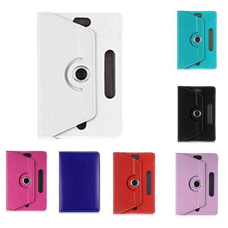 Universal 7/8/9/10 pulgadas giratorio cuatro ganchos imitación cuero cristal patrón tableta cubierta de protección 7 colores
