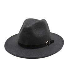 OZyc шерстяная Женская Шляпа Fedora для зимы и осени элегантный гибкий колпак для джазования с полями размер 57-58 см