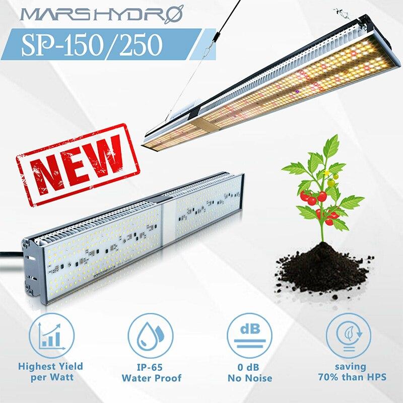 SP-150 250LED MarsHydro Cresce A luz Full Spectrum Hidroponia Jardim Interior Ruído zero à prova d' água profissional luzes de plantio