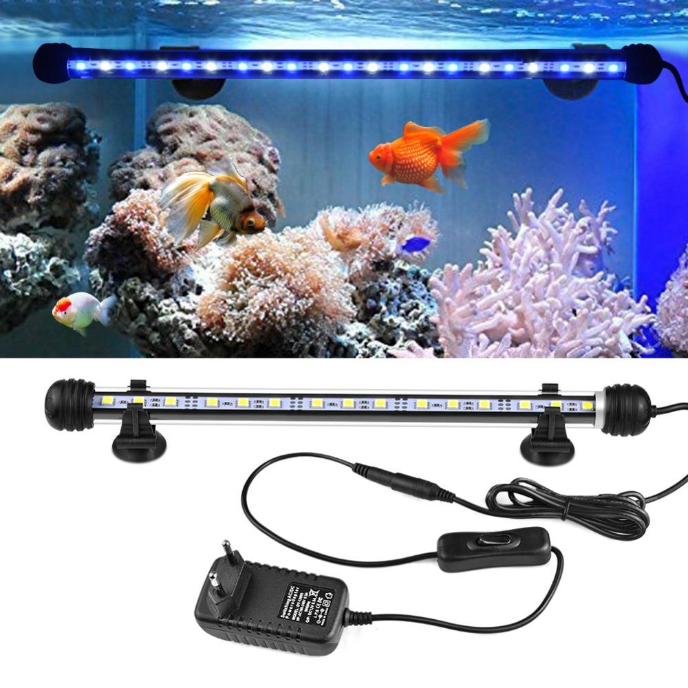 Us 7 45 37 Off 19 29 39 49cm Submersible Underwater Clip Lamp Waterproof Led Aquarium Lights 220v Eu Plug Fish Tank Led Bar Light In Lightings From
