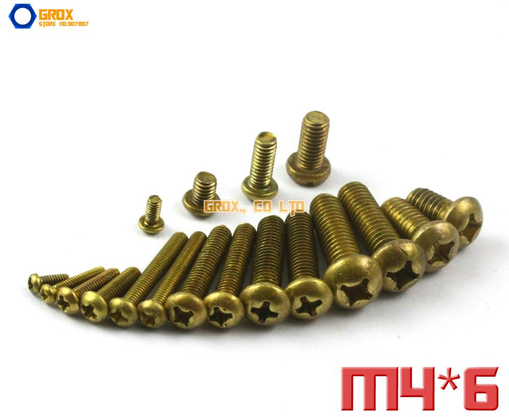 M4 Brass Phillips Pan Head Machine Screw m4 male m 25 30 35 40 45 50 55 60 mm x m4 6mm female brass standoff spacer copper hexagonal stud spacer hollow pillars