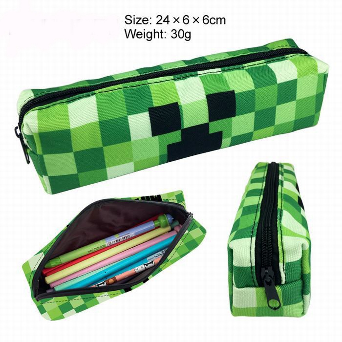 Party Gift Stationery Bag Minecraft Single Layer Zipper Canvas Student Starter Supplies