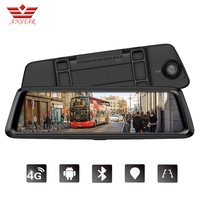 ANSTAR ADAS Car DVR Camera 4G Android Video Recorder Dual Lens Stream Media Rear View Mirror FHD 1080P GPS Navigation Dash Cam