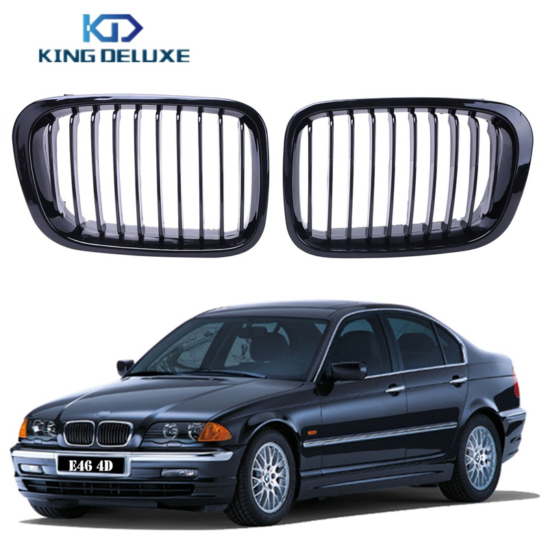 Bmw Xi 2012: 2X Gloss Black Kidney Front Grilles Grill For BMW E46