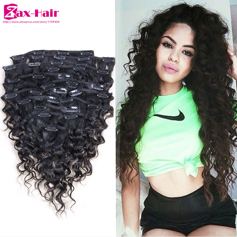 Clip In Human Hair Extensions Curly African American Clip