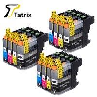 Tatrix 12 adet LC123 LC121 Uyumlu Mürekkep Kartuşu Için Brother DCP-J552DW J752DW J132W J152W J172W MFC-J470DW J650DW J870DW J245