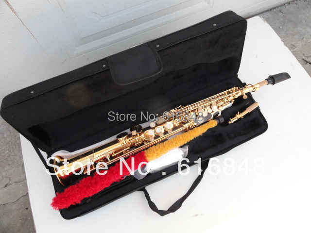 YSS - 875 B adjustable soprano saxophone straight pipe surface of gold lacquer saxophone mouthpiece with Series