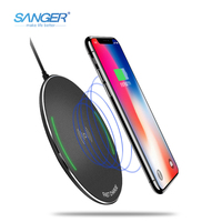 Qi Wireless Charger 10W Phone Wireless Quick Charger For IPhone 8 8 Plus X Samsung Galaxy
