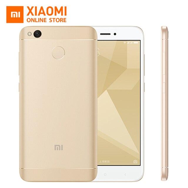 """Оригинальный Xiaomi Redmi 4X Pro 3 ГБ Оперативная память 32 ГБ Встроенная память Смартфон Snapdragon 435 Octa core Процессор Adreno 505 5.0 """"4100 мАч MIUI8 13MP Камера"""