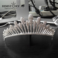 Unique Designs Sparkling Luxury Rhinestones Wedding Large HAir Crown Tiaras Bridal Girls Festival Headpiece 1111