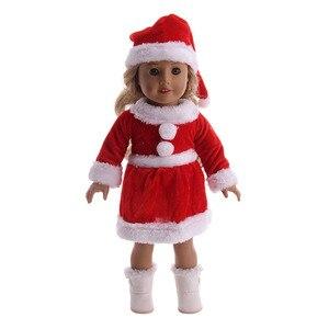 Вязаный свитер Logan Doll, Модный комплект, одежда + шляпа, сапожки, подходят для новорожденных, 18 дюймов, в американском и 43 см, поколение, подарок на день рождения, игрушка для девочки
