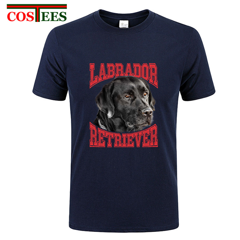 Custom Short Sleeve O-neck Valentine's Love Dog Labrador Retriever T Shirt Men Male Premium Cotton Plus Size 3XL Team Tee Shirts