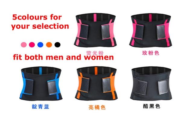 Men And Women Waist Support Belt Neoprene Plus Size Slimming Sweat Belt Women Waist Support Back Support Fitness Waist Trimmer 5