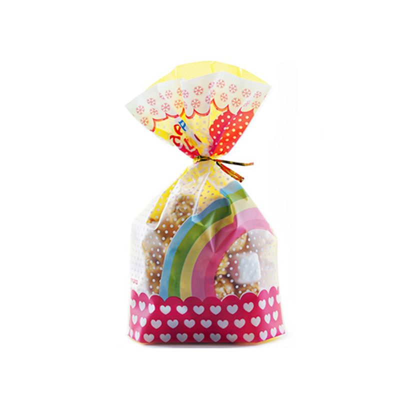 50PCS Plastic Christmas Cellophane Party Treat Cookie Biscuit Candy Gift Bags F
