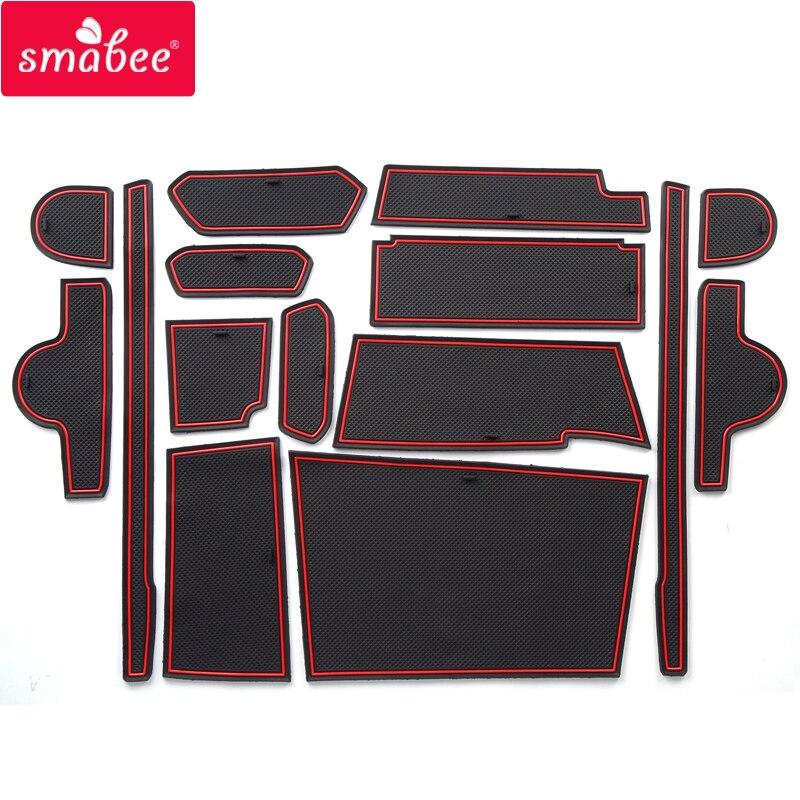 Gate slot pad For DAIHATSU WAKE 2015 2018 mats red/white/black Japan in southeast Asi 15PCS BLACK RED WHITE