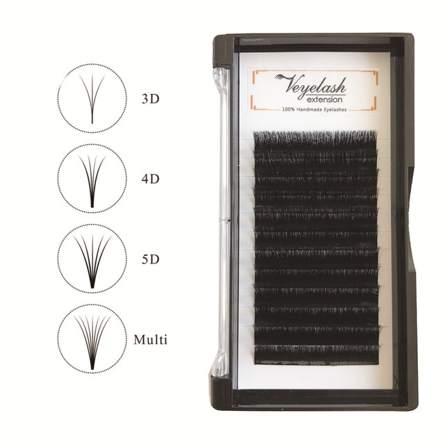 Veyelash Easy Fan Volume Lashes Automatic Blooming Lashes Mink Eyelashes Korean Silk Individual Eyelash Extensions 4