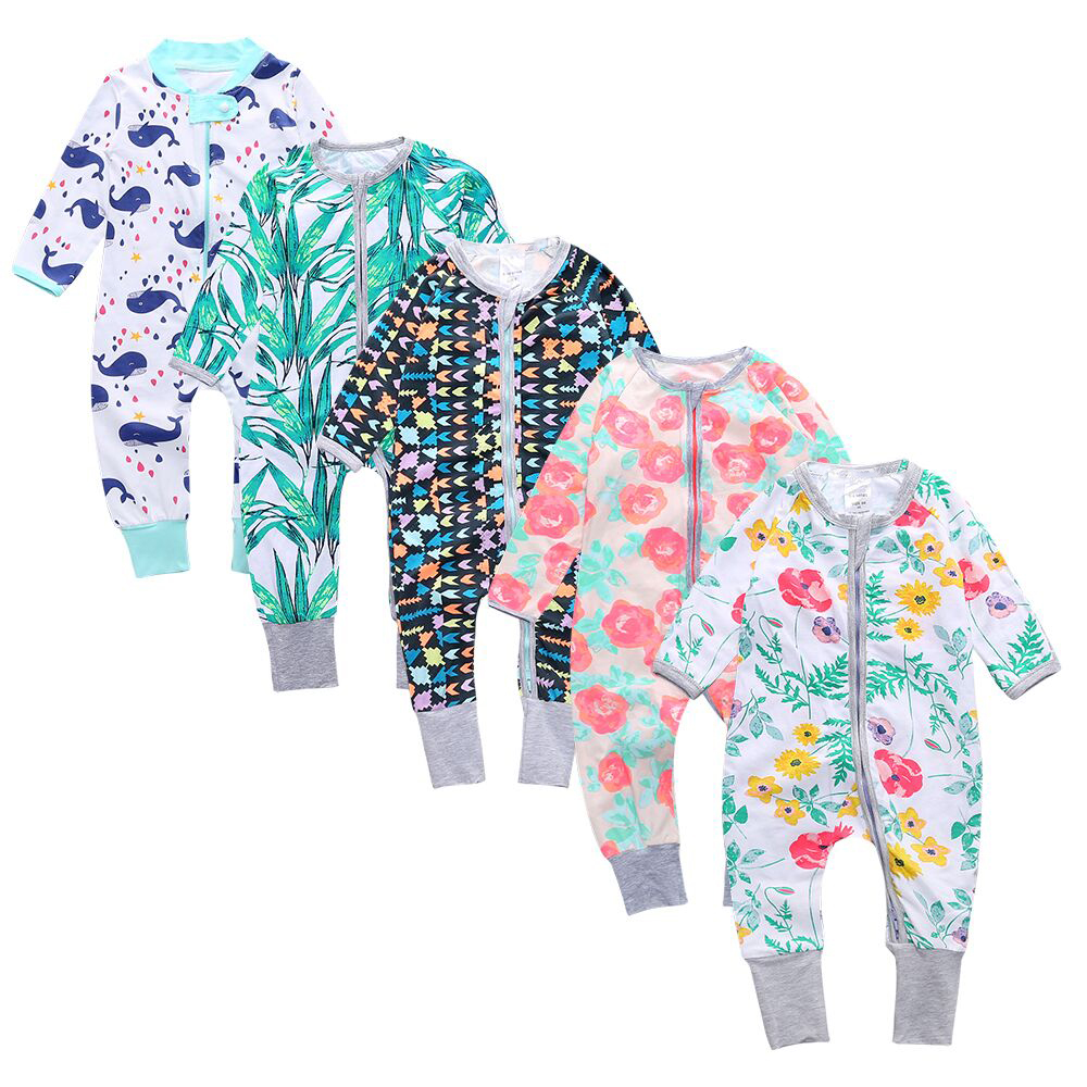 Baby Boys Romper Clothes For Girls 2018 Hot Babies Toddlers Floral Romper Childrens Overalls Pyjamas Kids Newborn Clothing