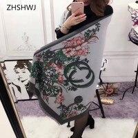 ZHSHWJ Autumn And Winter New Women S Scarf High Quality Cashmere Scarf Decoration Warm Scarf