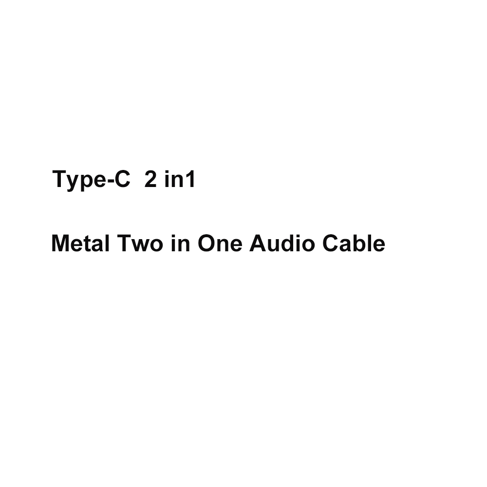 USB Type C Cable Male to Female USB C Audio Cable to 2 in 1 Type-C 3.5 mm Jack Earphone Adapter Receiver for Moto Audio Splitter