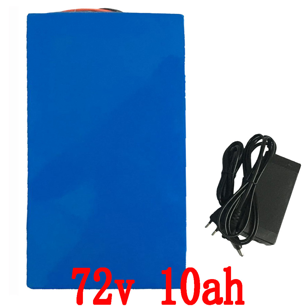 72V battery pack 10AH 72V 1500W li-ion battery 26650 battery with charger 72V battery for e-bike Free shipping free customs taxes super power 1000w 48v li ion battery pack with 30a bms 48v 15ah lithium battery pack for panasonic cell