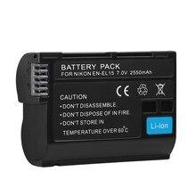 7.0 v 2550 mah Camera Batterij EN-EL15 voor Nikon V1 D500 D750 D7100 D7000 D800E D800 D600 D600E D610 D810 d810E