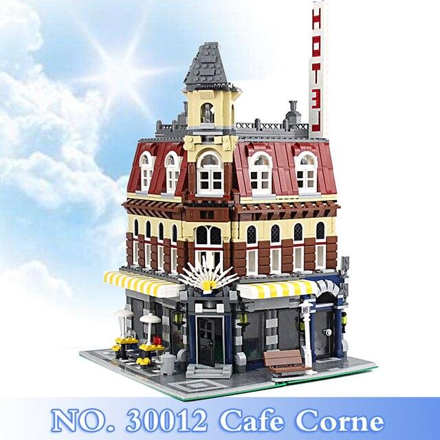 2018 New City Street Series 2133Pcs Cafe Corne Figures Building Blocks Bricks Set Children Toys Model Kits Gift Compatible 10182