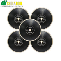 SHDIATOOL 5pcs/pkDia 250mm/10inch Hot pressed Continue Rim Diamond Blades Porcelain Tile Saw Blades Ceramic Cutting Discs