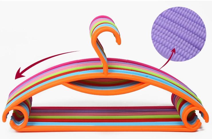 plastic suit hangers uk clothes multifunction hook rack colorful slip garment coat recycling