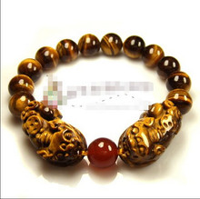 ZCD 2017 610 +++Natural stone tiger double red bracelet brave men and women lovers of good luck(China)