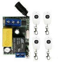 AC220V 1CH RF беспроводной мини-переключатель релейный приемник Пульт дистанционного управления для светильник с белым водонепроницаемым передатчиком/лампой
